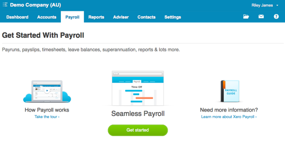 How to enable payroll in the demo company